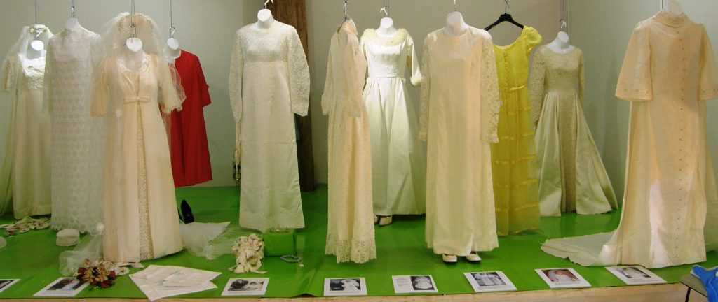 1960s wedding gowns, Orbost, 2014